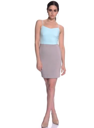 House Of Camellia House Of Camellia Mavi Askılı Kadın Elbise Mavi
